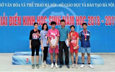 Một thành viên của Nhà Trẻ Em đạt huy chương đồng tại cuộc thi thể thao toàn thành phố